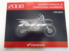 2008 Honda CRF450X Motorcycle Owners Manual Competition Handbook New Factory - $58.38