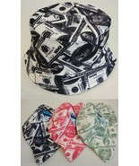 0e55ad10 Money Fashion Bucket Hat Cash Dollar Bill Print 100% Cotton Fishing Cap .