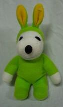"Peanuts SNOOPY IN GREEN EASTER BUNNY COSTUME 8"" Plush Stuffed Animal - $14.85"
