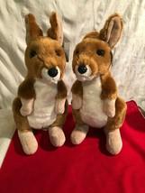 "Lot of 2 NEW w Tags Aurora 12"" Kangaroo Gray Plush Stuffed Animal Toy #... - $9.89"