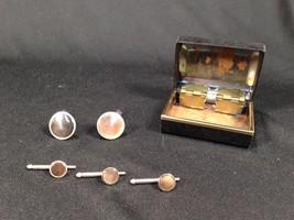 Vintage Swank Cufflinks & Button Studs Set in Metal Box Cuff Links - $19.99