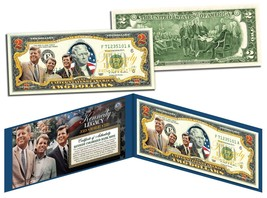 KENNEDY BROTHERS LEGACY Colorized $2 Bill US Legal Tender ROBERT & TED &... - $13.81