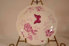 """Lenox Butterfly Meadow Toile Pink Party Plate 6 1/2"""" New - $10.39"""