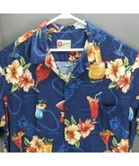 Hilo Hattie Men's Hawaiian Shirt Sz 3XL Cocktail Recipes Drink Bartender... - $48.33