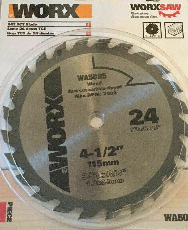 "NEW WA5085 WORX 4-1//2/"" WORXSAW Circular Saw Replacement Blade Wood"
