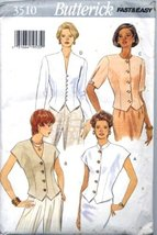 Misses Tops With Variations At Neckline And Sleeve Sizes 12-14-16 Butterick Fast - $10.78
