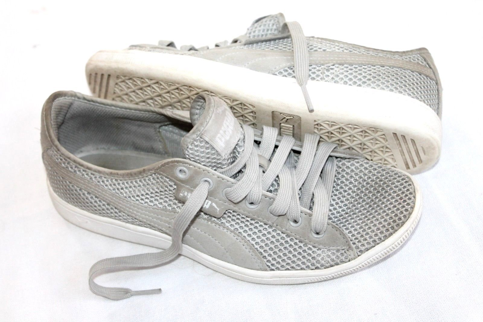 Puma Gray Vikky Mesh Comfort Lace-Up Athletic Shoes  Size 8 Sneakers