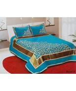 King size Bed cover Bed sheet with two pillow covers fabric Chenille - $84.15
