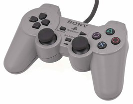 Official Sony PlayStation 1 One PS1 Dual Shock Analog Gray Controller - $9.41