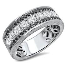 1.60 Ct Round Cut Diamond 18k White Gold Over Anniversary Wedding Band Ring - $149.64