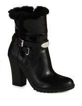 Michael Kors Lizzie Ankle Black Leather Boot Size 5 MSRP: $295.00 - $149.99