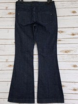 EXPRESS Womens Jeans Size 6R 6 Regular Eva Fit and Flare DARK Blue Wash ... - $14.84