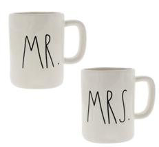 """Rae Dunn Artisan Collection """"MR. & MRS."""" Coffee Mugs Set of Two  (No Box) - $43.53"""
