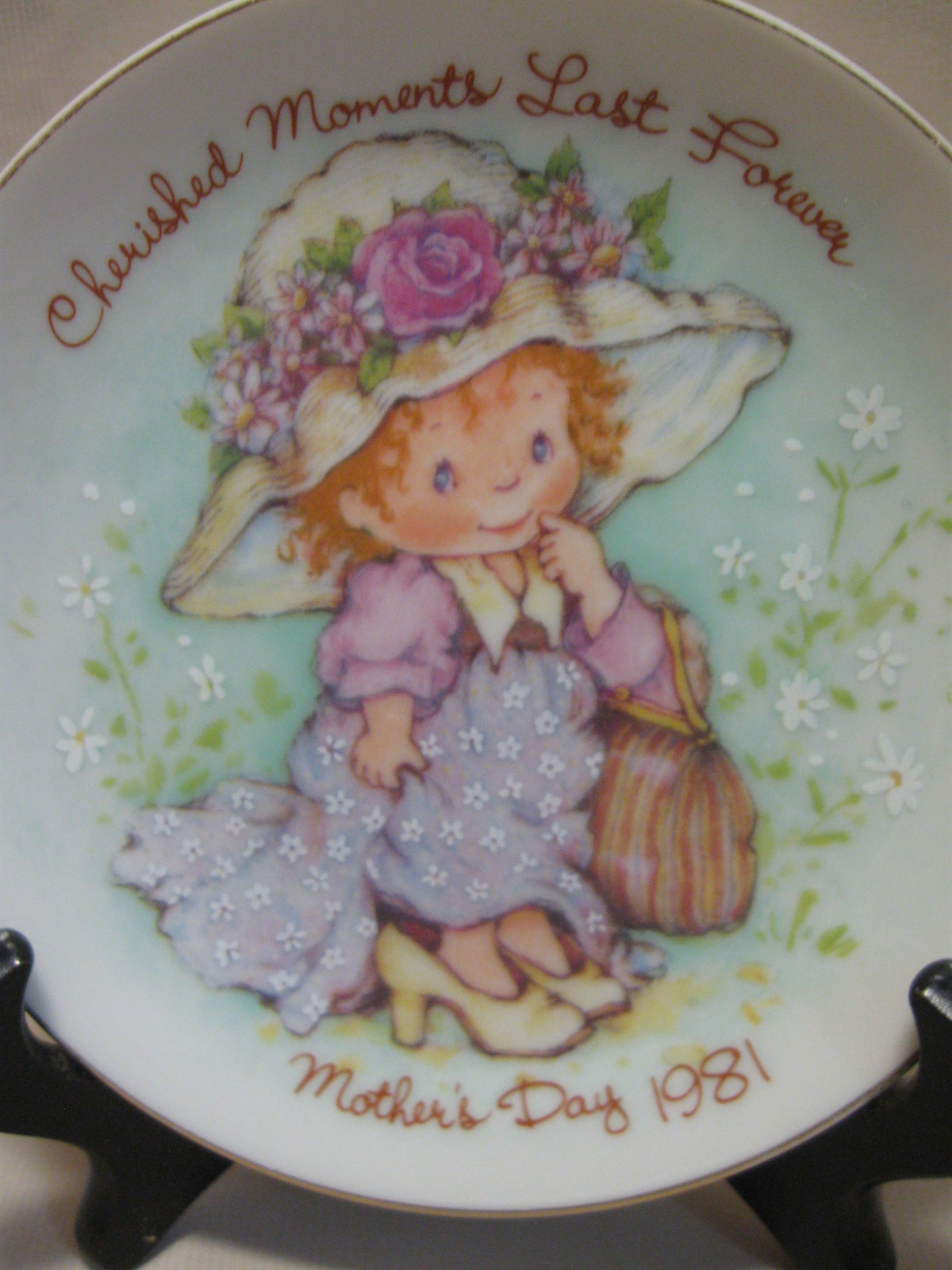 Cherished Moments Last Forever Mother's Day Plate Avon 1981