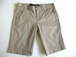 Calvin Klein Jeans Women's Bermuda Shorts 4 Khaki Beige NEW - $21.55