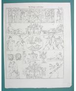 MYTHOLOGY Gods Ariadne Abducted Satyr Faun Silenus Centaur - 1825 Antiqu... - $9.79