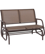 Outdoor Swing Glider Chair Patio Bench 2 Person Garden Rocking Seating B... - $208.12