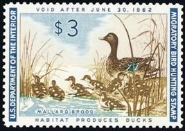 RW28, Mallard Brood $3.00 Federal Duck Stamp Superb NH -- Stuart Katz - $65.00