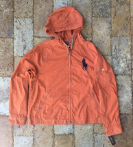POLO RALPH LAUREN RUGBY WAIMEA HOODED JACKET, DARK ORANGE, Size XL - $148.49