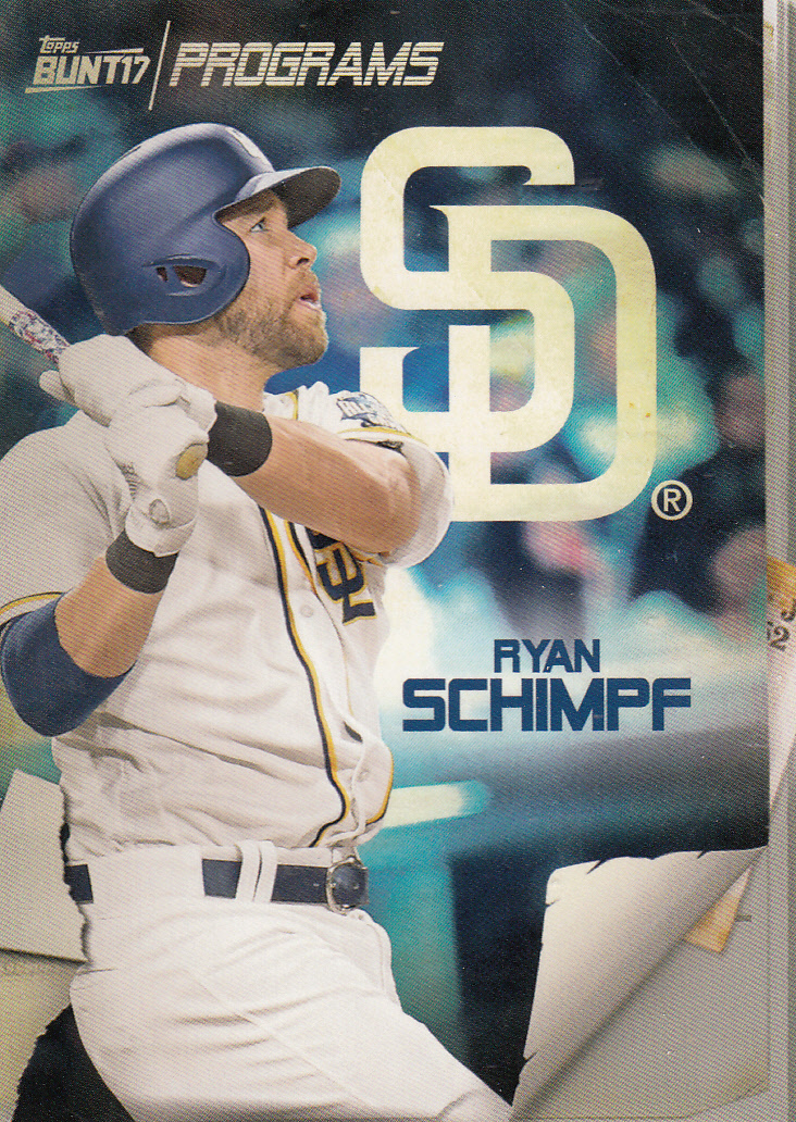 Primary image for Ryan Schimpf 2017 Topps Bunt Programs Card #PR-RS