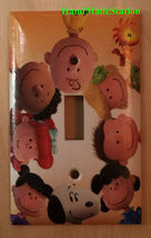 Peanuts Snoopy Charlie & Friend Light Switch Outlet Wall Cover Plate Home Decor