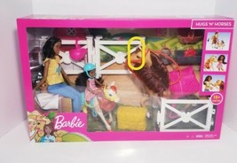 Mattel Barbie Hugs N Horses Playset Brunette - $70.13