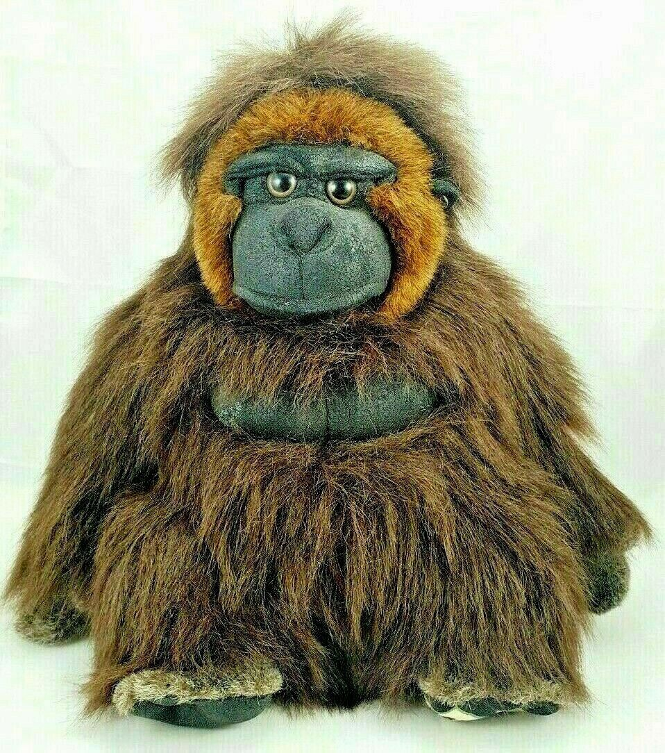 Disney World Life Like Gorilla/Ape Plush Stuffed Animal Kingdom Toy 14""