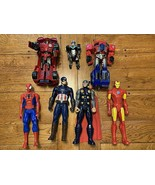 "Marvel 12"" Super Heroes Action Figures / Transformers Iron Man Spiderman... - $32.38"