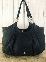 Coach Lily Refined Pebble Leather F12155 Black Shoulder Bag - $88.11