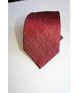 New-One of a Kind Handmade Textured 100% Silk Men's Tie RED - $19.79