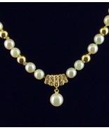 "MIKIMOTO Pearl Diamond 18K Yellow Gold 18"" Necklace 7"" Bracelet Luxury Set - $2,474.99"