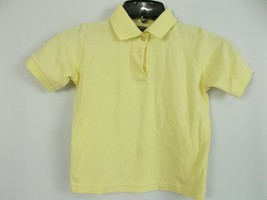 Girls French Toast yellow School Shirt Size 5 A08 short sleeve - $8.12