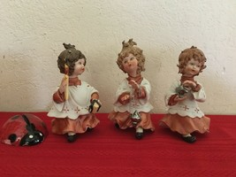 Vtg Capodimonte By Rori Choir Girls Italian Porcelain Figurines Rare! - $350.00