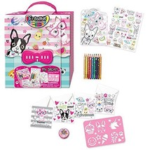 Kids Coloring Set - Travel Toys On The Go For Girls - Pet Theme Carrying Case wi