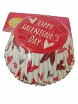 Happy Valentine's Day Mixed Hearts 75 Ct Baking Cups Cupcake Liners Wilton - $3.95