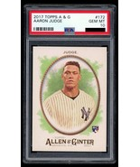 2017 Topps Allen & Ginter #172 Aaron Judge RC ROOKIE CARD Yankees PSA 10... - $197.99