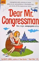 """Juliet Lowell """"Dear Mr Congressman"""" Vtg 1960 Paperback Cartoon Book - $4.99"""