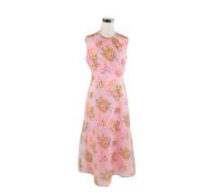 Light pink floral vintage A-line dress & sheer jacket 14 M - $40.00