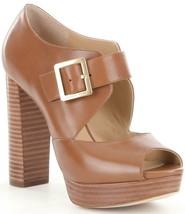 Women MICHAEL Michael Kors Eleni Platform Pumps, Leather Sizes 6-11 Luggage   - $159.95