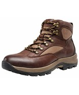 JOUSEN Men's Hiking Boot Leather Work Boots for Men 9,Brown - $58.41