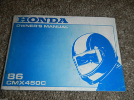 1986 86 Honda CMX450C Cmx 450 Owner Owners Owner's Manual - $44.70