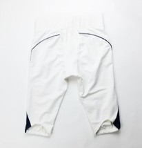 Rawlings Men's Large White Slotted Football Game Pant Navy Piping F45X - $18.55
