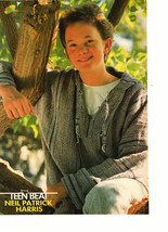 Paula Abdul Neil Patrick Harris teen magazine pinup clipping sitting in a tree