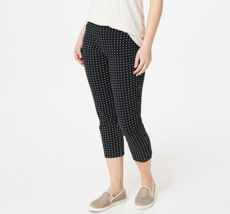 Women with Control Pull-On Printed Crop Pants Color Polka Dot Size Petit... - $12.86