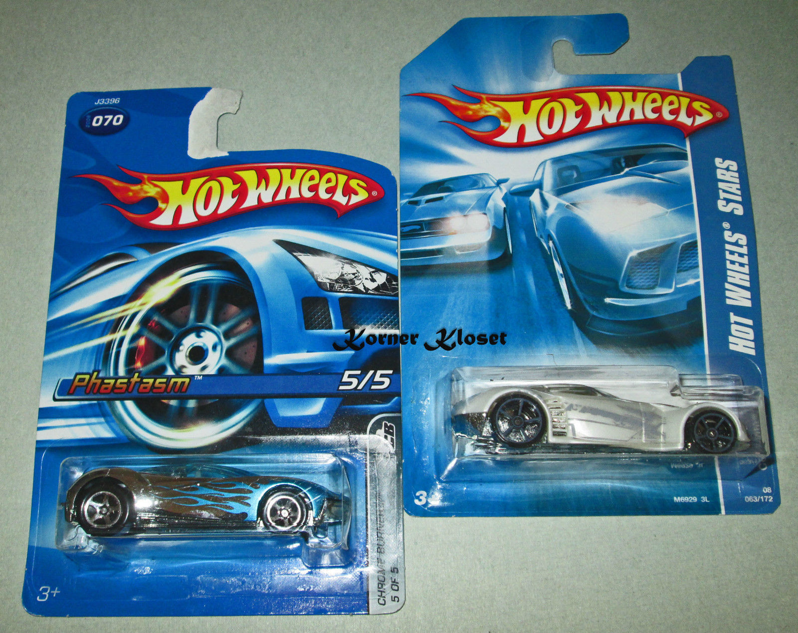 Primary image for Lot of 2 Mattel Hot Wheels Cars - Covelight (Corvette) & Phastasm (Burnerz)  NIP