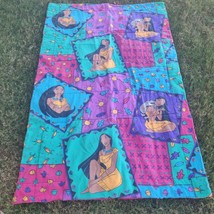 "Vintage Disney Pocahontas Twin Bed Comforter pocket Blanket 87""x62"" - $58.41"