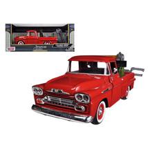 1958 Chevrolet Apache Fleetside Pickup Tow Truck Red 1/24 Diecast Model ... - $35.89