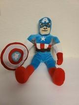 "Large Captain America 17"" Plush Toy Avenger By Marvel w/ Soft Shield Euc - $29.99"