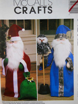 "McCalls 3424 PATTERN Santa Claus & Wizard Dolls 33"" Greeter & OWL Uncut CLEAN - $10.88"