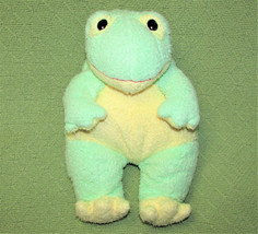 "Ty Pluffies FROGBABY Frog Baby Green Plush RATTLE Soft Cuddly 12"" 1999 T... - $23.36"